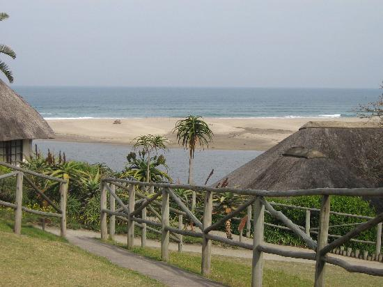 Port St Johns, Afrika Selatan: The beautiful view from our bungalow
