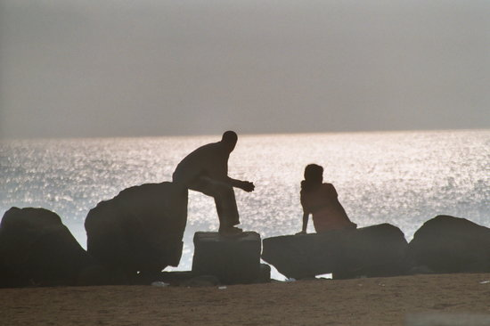 Pondicherry, Indien: Couple&#39;s Sunset
