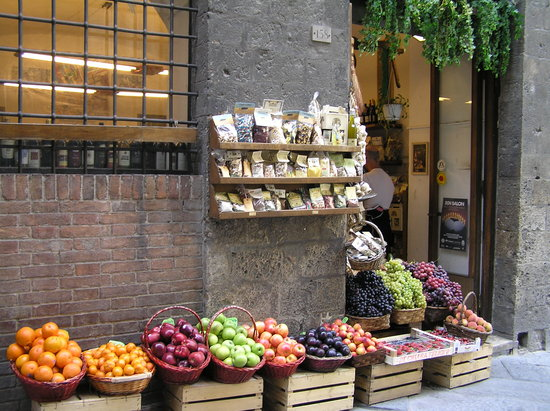 Store front in Siena