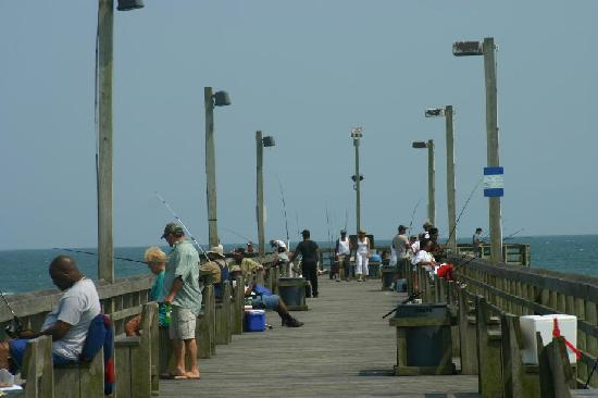 fishing in the intracoastal waterway behind topsail island