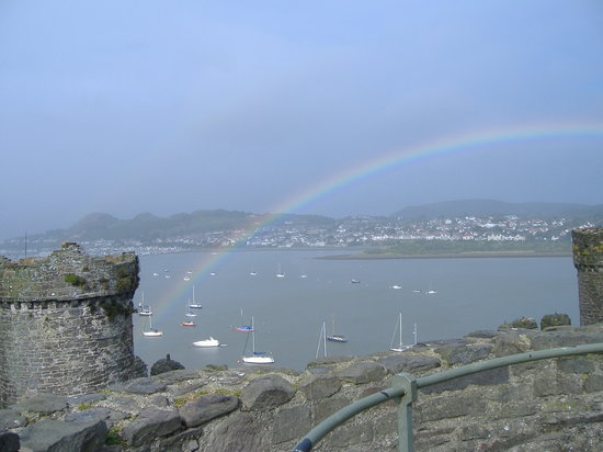 Conwy Castle after a rainshower
