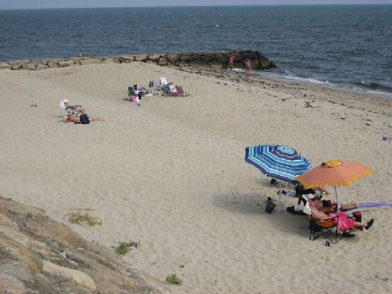 Dennis Port, MA: the beach from the deck