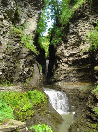 Watkins Glen, Νέα Υόρκη: one of the waterfalls