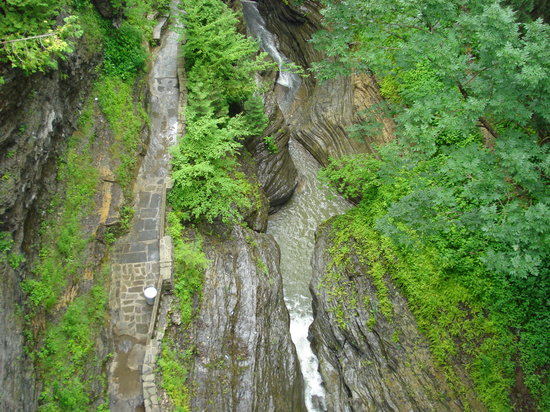 Watkins Glen, tat de New York : looking down 