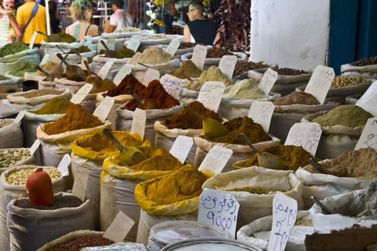 Sousse, Tunisia: Market spices