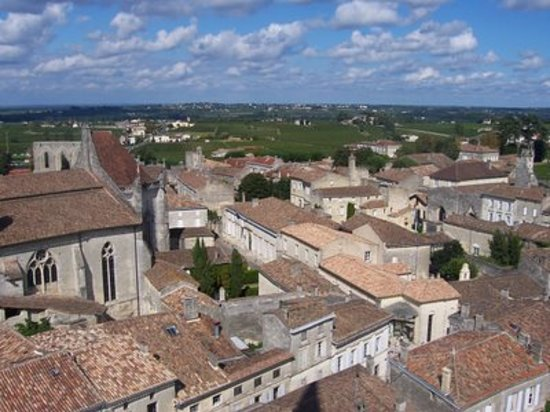 Saint-Emilion, Frankrike: View of St. Emilion Village from the Church Steeple