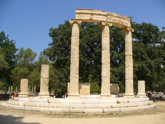 Ancient Olympia columns