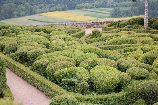Vezac, France: The topiary