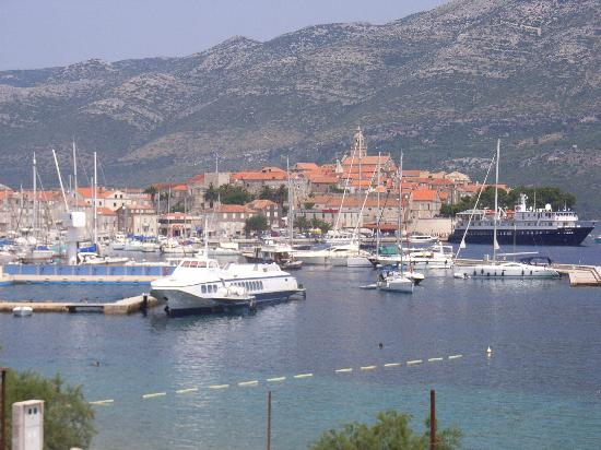 Korcula Island, Хорватия: View from bedroom window