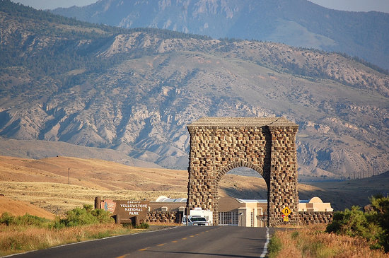Gardiner, MT: North Entrance to Yellowstone on 7-23-08