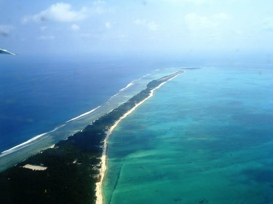 Lakshadweep, India: The entire stretch of Agatti from the air