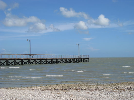Rockport, Техас: fishing pier at Goose Island St Pk
