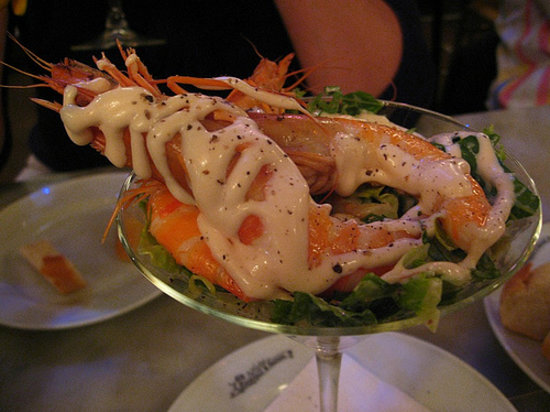 The prawn cocktail at Randall & Aubin London's Best Retro Dishes