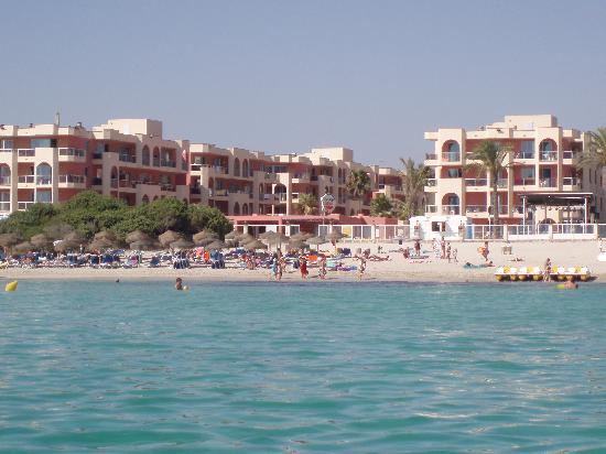 Alcudia Pins: Hotel seen from the sea