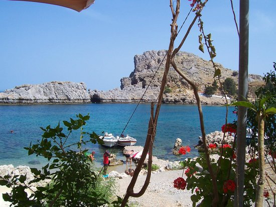 Rhodes, Greece: st pauls bay, lindos