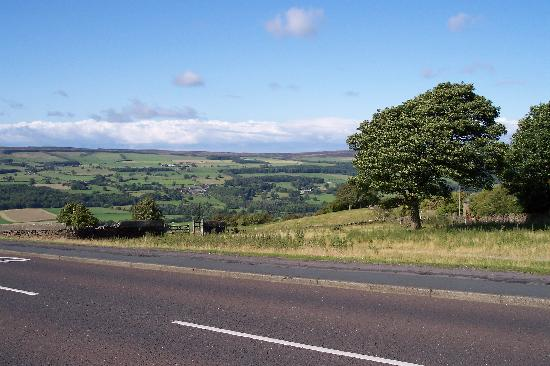 Ilkley, UK: view from cow and calf rocks