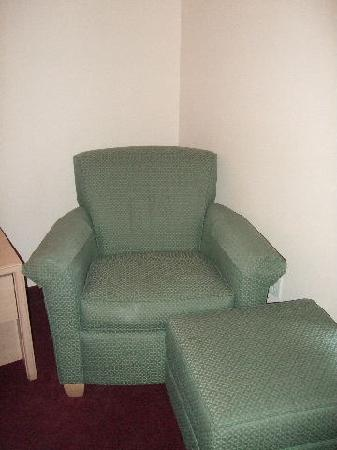 Comfort Inn &amp; Suites: Chair Looks Like My Grandmother&#39;s and in Vinyl Too!