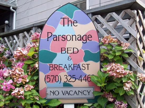 The Parsonage Bed and Breakfast: The Sign