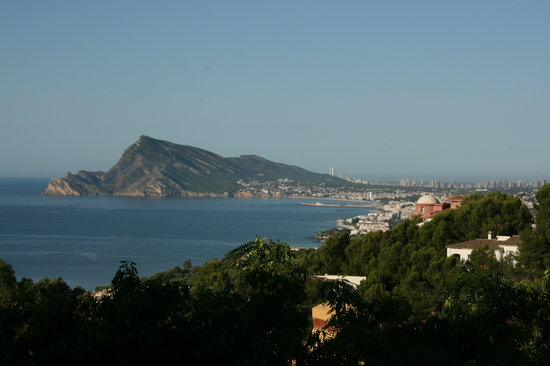 Altea, Spain: View from our balcony