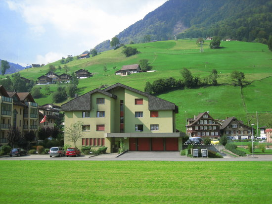 , : Swiss style houses