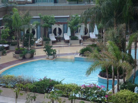 Four Seasons Hotel Cairo at Nile Plaza: pool view from our room