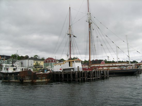 Lunenburg, Canada: A view of the wharf taken aboard the Eastern Star