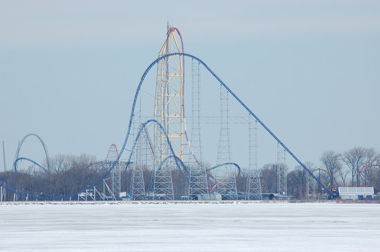 Sandusky, Огайо: Cedar Point in winter