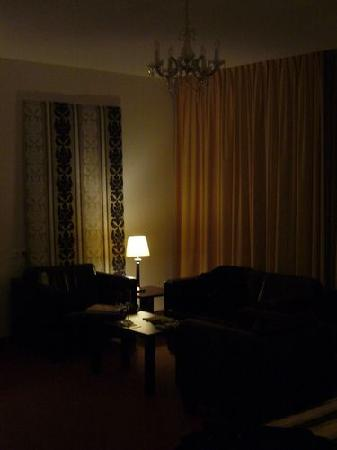 Quartier Du Port: Bedroom sitting area at night, nice dimmed lighting