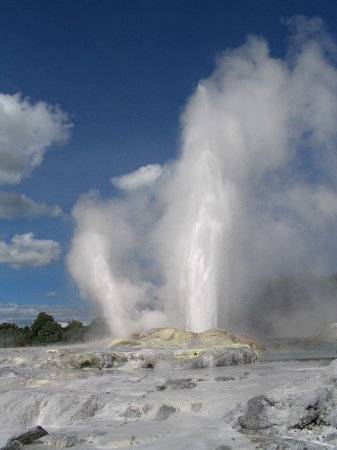 New Zealand: geyser en rotoura