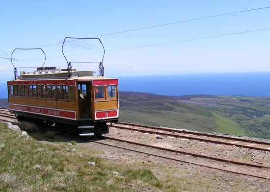 Isle of Man, UK: Snaefell Mountain Railway