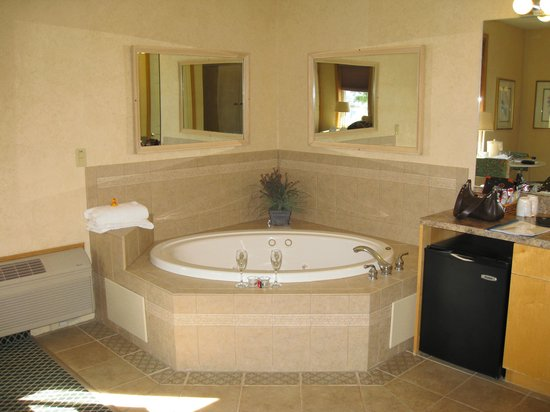 Skaneateles Suites Boutique Hotel: The in-room jacuzzi