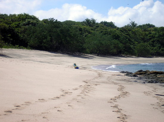 Santa Cruz, Costa Rica: What a bummer! The whole beach to ourselves!
