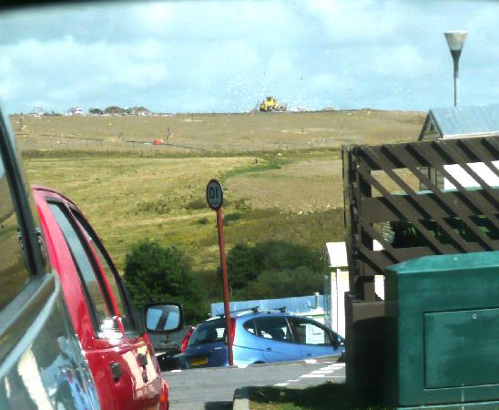 St. Leonards-on-Sea, UK: Landfill and Seagulls (wing mirror)