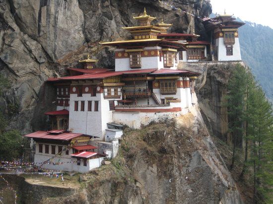 Paro, Bhutan: Across the gorge