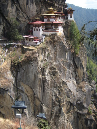 Paro, Bhutan: Long way down!