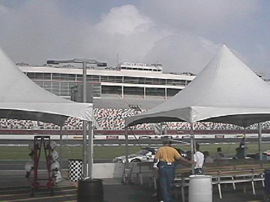 Turn 1 from infield picture of charlotte motor speedway for Hotels near charlotte motor speedway concord nc