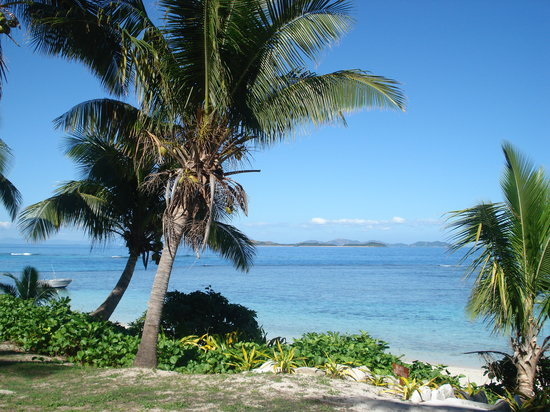 Matamanoa Island, Fidschi: view from patio