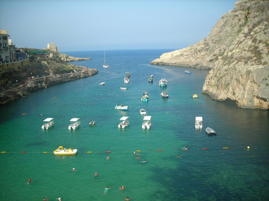 Xlendi, Malte : vue de la chambre 