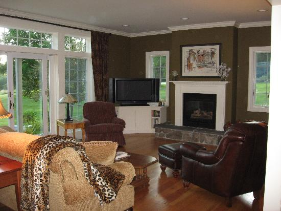 The Living Room With French Doors To Patio Picture Of
