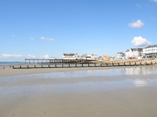 Bognor Regis, UK: Bognor Reis at low tide