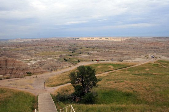 Badlands National Park, Güney Dakota: Yellow Mounds overlook