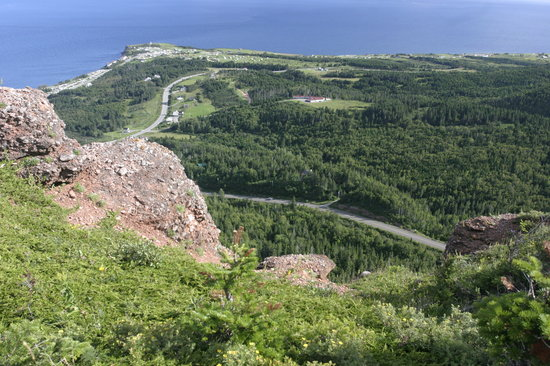 Perce, Canada : Du haut du mont Saint Anne