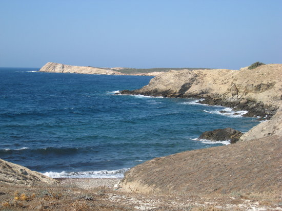Antiparos, Greece: coast line