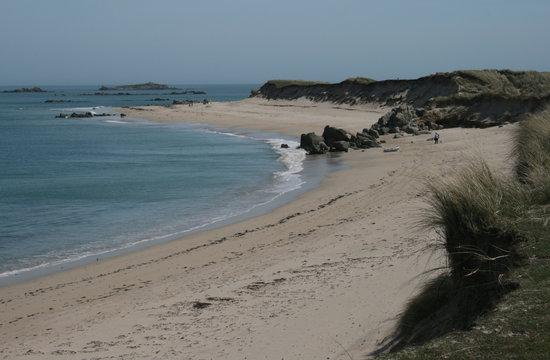 St Martins, UK : Beach on Herm island