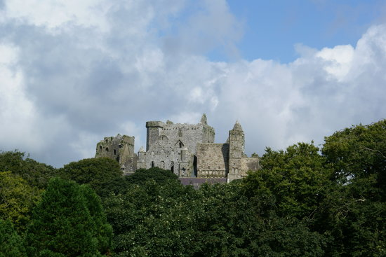 Cashel, Ierland: View of the Rock from my room