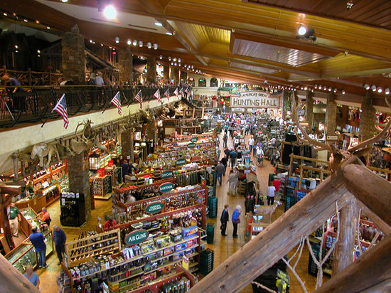 Bass Pro in Springfield, MIssouri is HUGE!!