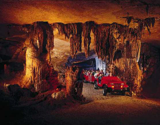 Springfield, MO : Fantastic Caverns is the only cave in North America that you can ride through! 
