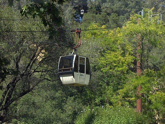 Calistoga, Kalifornien: Tram ride