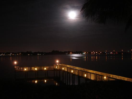 Tradewinds Beach Resort: Night time view from terrace