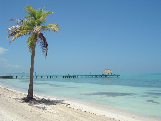 Caye Chapel, Belize: view from the outside villa 2